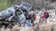 Araç şarampole yuvarlandı: 1 ölü, 4 yaralı