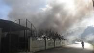 Anamur'da muz sarartma tesisinde yangın