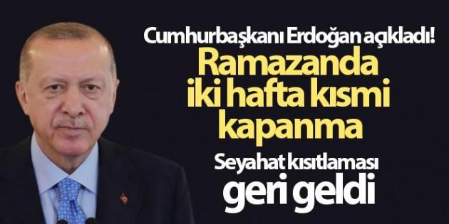 RAMAZAN KISITLAMALARI GELDİ