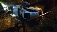 Kontrolden çıkan otomobil su kanalına uçtu: 1 yaralı