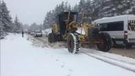Yüksek kesimlerde karla mücadele sürüyor