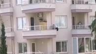 Polisten kaçmak için 6'ncı kattan 5'inci kata indi