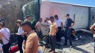Aydıncık'ta otobüs kazası: 2'si ağır 14 yaralı