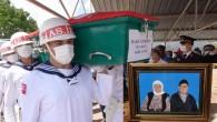 Kore Gazisi Halil Gürsoy Mersin'de son yolculuğuna uğurlandı