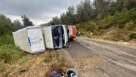 Tarım işçilerini taşıyan kamyonet devrildi: 11 yaralı
