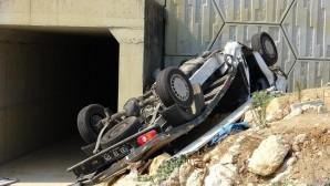 Pikap köprüden uçtu: 2 ölü, 1 yaralı