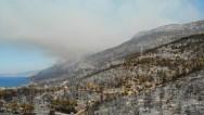Yanan bölgeler drone ile havadan görüntülendi