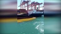 Mersin Büyükşehir Belediyesinden denizi kirleten gemiye 1 milyon 355 bin TL'lik ceza