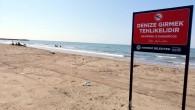 Akdeniz Belediyesinden sahillere uyarı tabelası