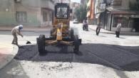 Akdeniz'de yol ve kaldırım çalışmaları devam ediyor