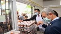 Yenişehir Belediyesi Aşevinde vatandaşlara aşure ikram edildi