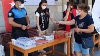 Mersin polisi, kentte gelen öğrencileri karşılıyor