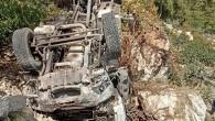 Şarampole düşen kamyonetin sürücüsü hayatını kaybetti