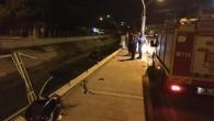 Aracıyla kanala düşen uzman çavuş ağır yaralandı